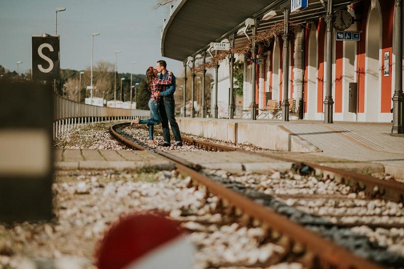 train station prewedding engagement session istria wedding photographer 2498 - Pula train station: Anita & Nikola engagement session